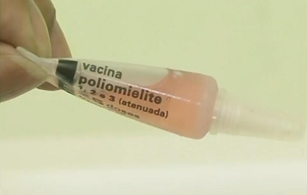 Vacina contra poliomielite — Foto: Reprodução/TV Rio Sul