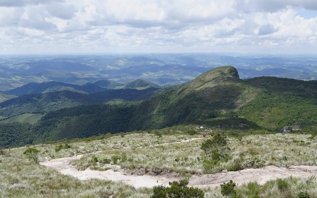 Parque Estadual do Ibitipoca - Vista geral da região no circuito da Janela do Céu — Foto: Dimas Stephan/G1