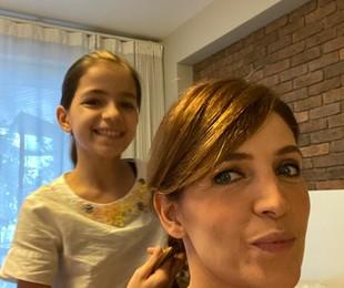 Poliana Abritta com a filha, Manu | Arquivo pessoal