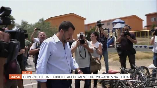 Governo da Itália fecha centro de acolhimento de imigrantes na Sicília