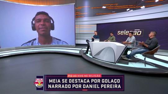 Pio, do RB Brasil, fala do golaço que marcou contra Guarani