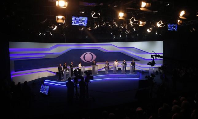 Candidatos em debate na Rede Bandeirantes