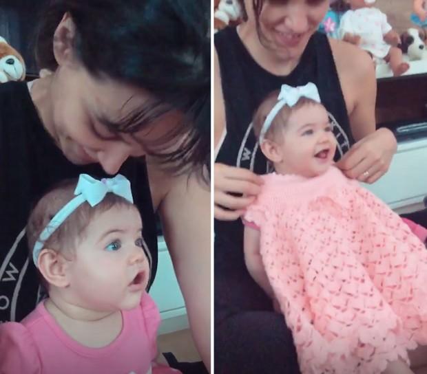 Débora Nascimento com Bella (Foto: Reprodução/Instagram)