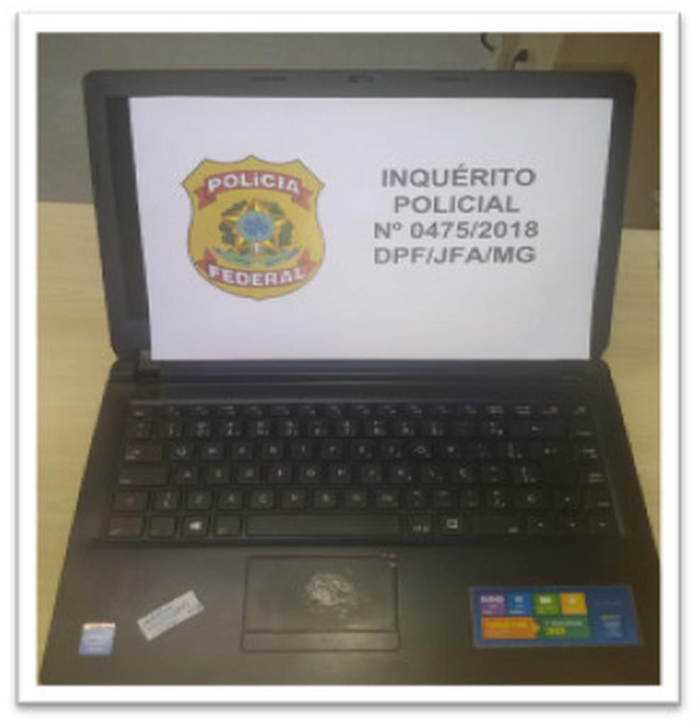 Segundo a PF, o laptop de Adélio era um modelo ultrapassado, avaliado em R$ 699,00. — Foto: Polícia Federal / Divulgação