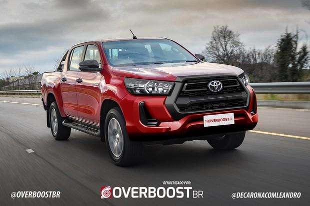 Projeção nova Toyota Hilux  (Foto: Renato Aspromonte/overboostbr )