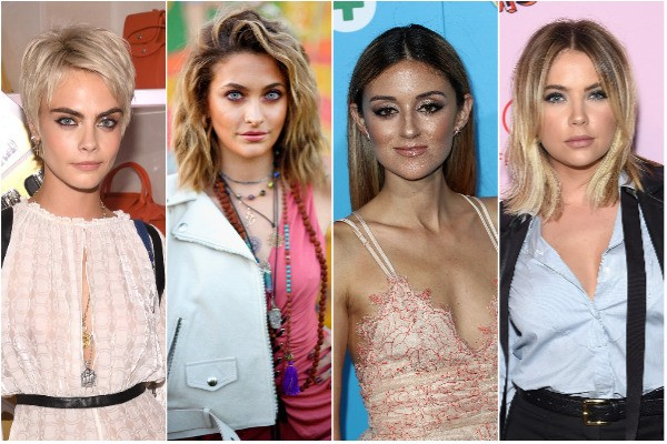Cara Delevingne, Paris Jackson, Caroline D'Amore e Ashley Benson (Foto: Getty Images)