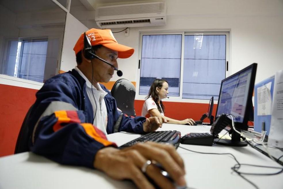 -  Atendimento do SAMU em Belém  Foto: Comus/Arquivo