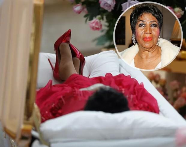 Fãs se despedem de Aretha Franklin (Foto: Getty Images)