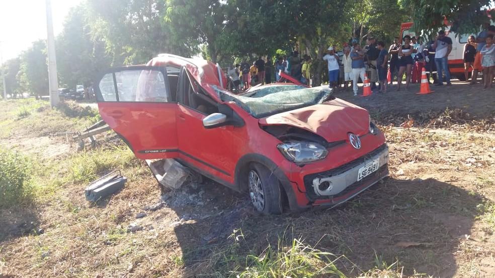 Acidente aconteceu na BR-418 — Foto: Divulgação/PRF