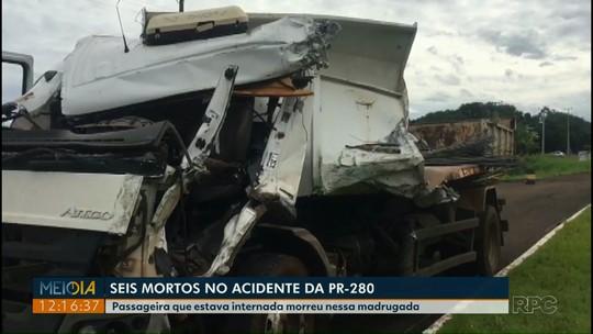 Sobe para seis o número de mortes em acidente entre caminhão-caçamba e ônibus na PR-280
