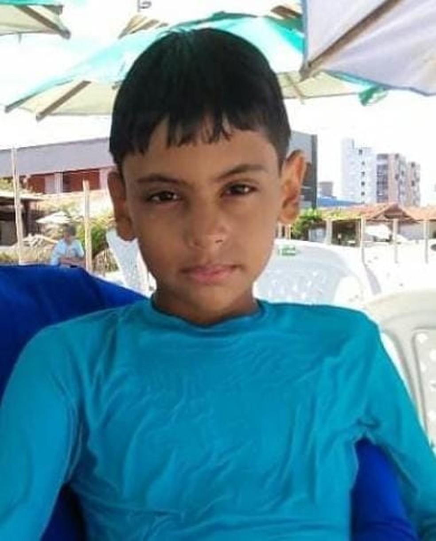 Nathan Pablo Félix, de 10 anos, morreu após ser atropelado em Acari, no Seridó potiguar — Foto: Cedida
