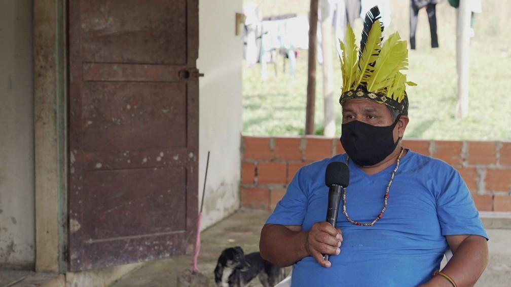 Para Lázaro Camlem, cacique Xokleng, a discussão sobre demarcação indígena vai muito além da luta e do direito à terra — Foto: Profissão Repórter