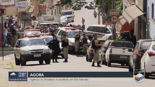 Funcionários são feitos reféns em tentativa de assalto ao Banco Bradesco em Elói Mendes, MG