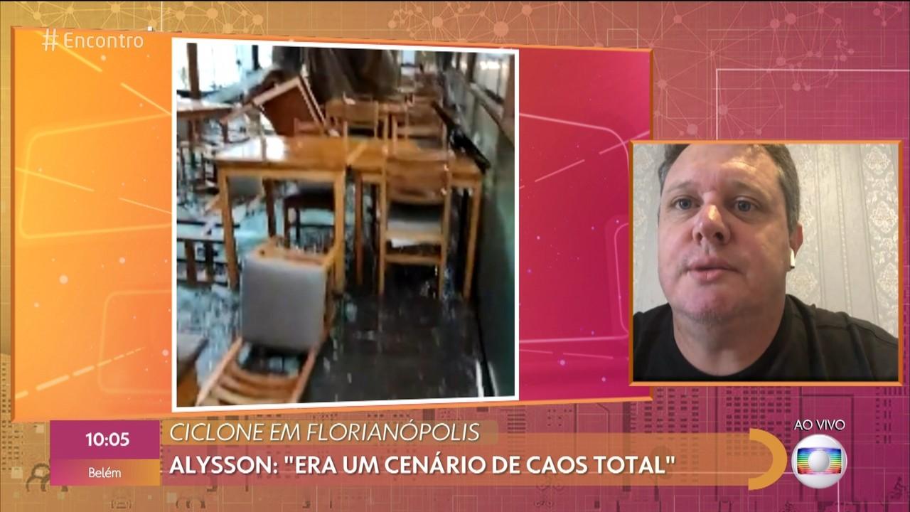 Ciclone em Florianópolis