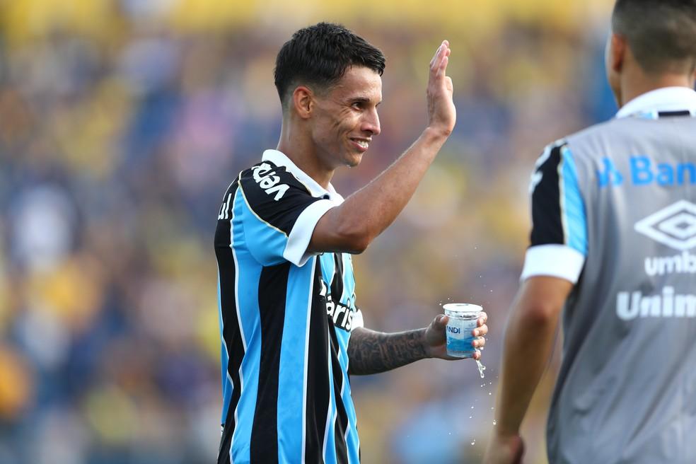 Ferreira estava há oito meses afastado, mas voltará após renovação com o Grêmio — Foto: Lucas Uebel/Grêmio