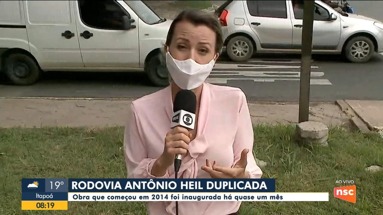 Rodovia Antônio Heil, que liga Itajaí a Brusque, tem problemas no trânsito