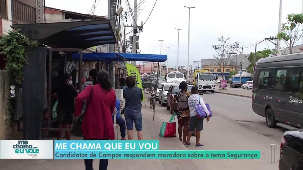 'Me chama que eu vou': Candidatos de Campos respondem morador sobre Segurança