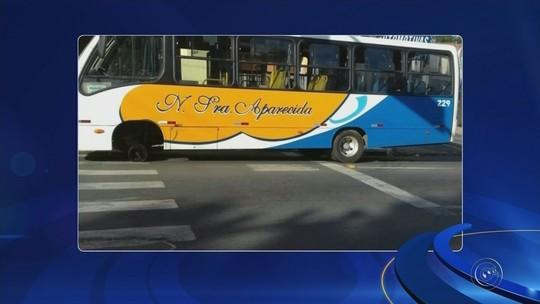 Ônibus circular perde a roda em avenida de Itapetininga
