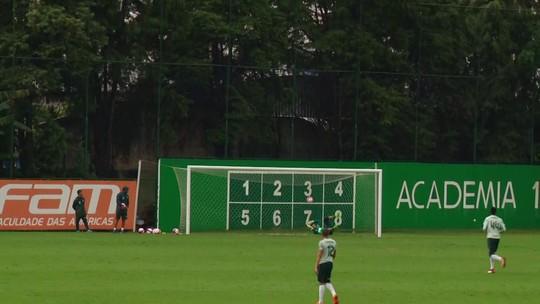 Marcos Rocha em campo e quase gol de cobertura: a reapresentação do Palmeiras