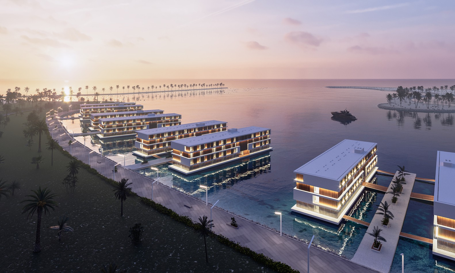 Catar constrói hotéis flutuantes em ilha artificial para Copa de 2022