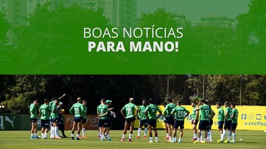 Palmeiras inicia preparação para jogo contra a Chapecoense com titulares em campo