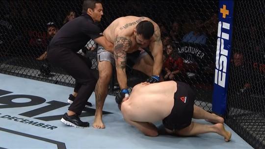 Melhores Momentos de Augusto Sakai x Marcin Tybura no UFC Vancouver