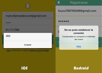 Contas de Snapchat de Jaime Sanchez bloqueadas no Android e no iOS (Foto: Reprodução/Twitter Jaime Sanchez)