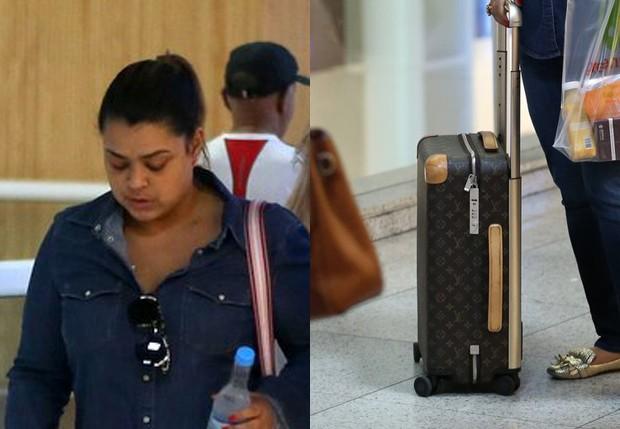 Preta Gil usa mala de grife (Foto: AgNews)
