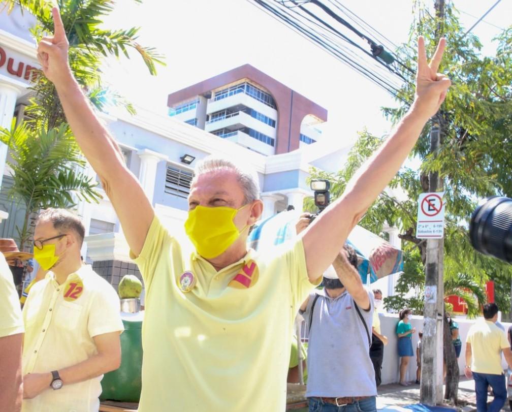 Sarto Nogueira é eleito prefeito de Fortaleza. — Foto: Natinho Rodrigues/SVM