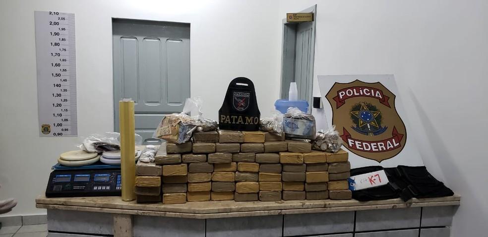 Droga era transportada escondida em caminhões  — Foto: Polícia Federal/ Divulgação