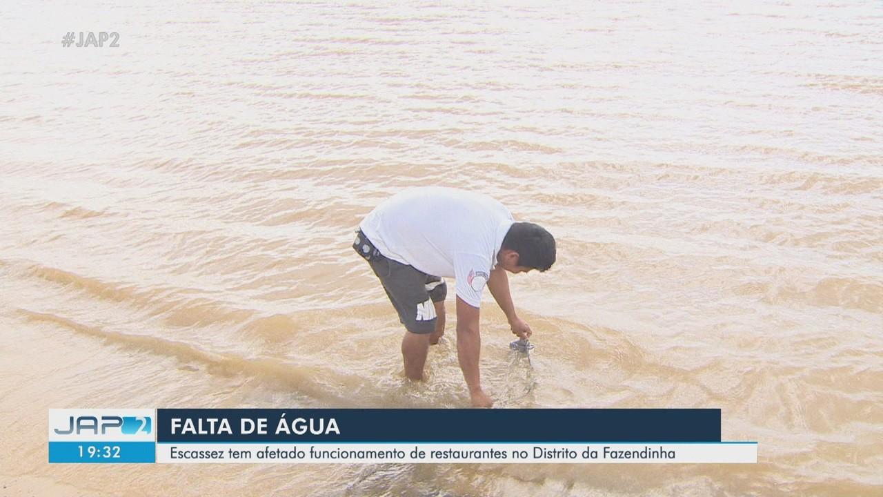 Escassez de água afeta funcionamento de restaurantes no distrito da Fazendinha