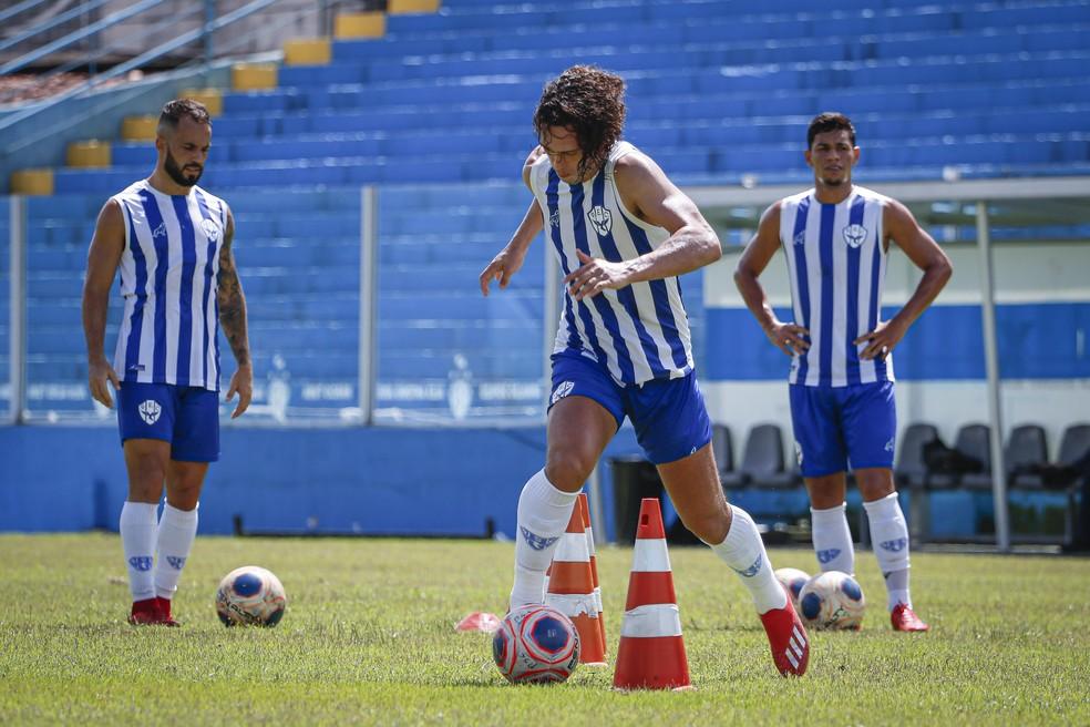 Trabalhos, inicialmente, serão executados em grupos de seis a oito atletas — Foto: Jorge Luiz/Ascom Paysandu