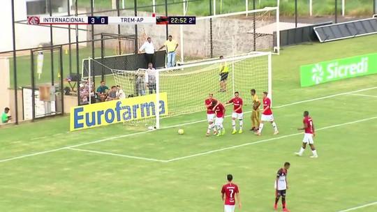 Os gols de Internacional 4 x 0 TREM pela Copa São Paulo de futebol júnior