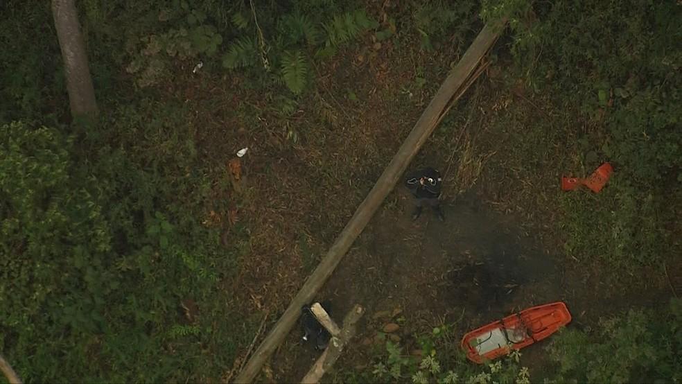 Polícia investiga identidade de corpo encontrado em Paraisópolis (Foto: Reprodução/TV Globo)