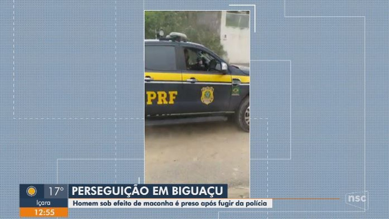 Homem é preso após perseguição em Biguaçu