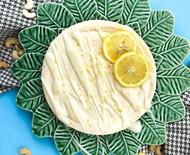 Torta de limão siciliano com chocolate branco vegana