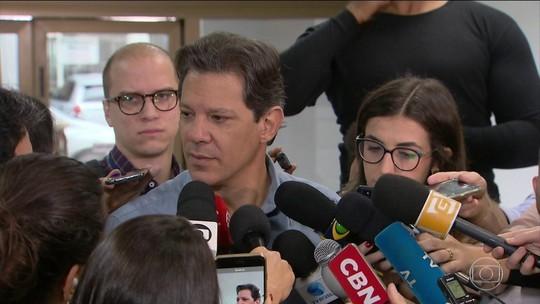 Haddad diz que não manterá nenhum integrante da gestão Temer em eventual governo