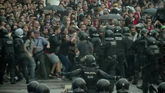 Condenação de separatistas causa protestos em Barcelona