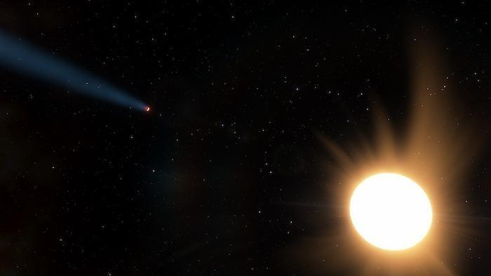 Planeta apelidado de Netuno quente tem atmosfera que não deveria existir (Foto: Ethen Schmidt | University of Kansas)