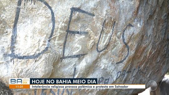 Intolerância religiosa: vândalos jogam sal na Pedra de Xangô, em Salvador