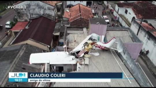 Corpo de piloto de avião que caiu em Belém é enterrado em Marabá
