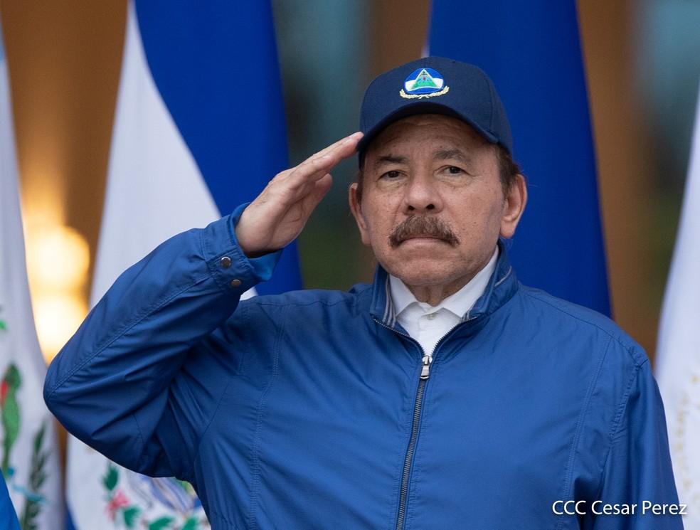 Daniel Ortega, presidente da Nicarágua, em foto no dia da Independência do país, 15 de setembro de 2020 — Foto: Presidência da Nicarágua/Cesar Perez/Handout via Reuters