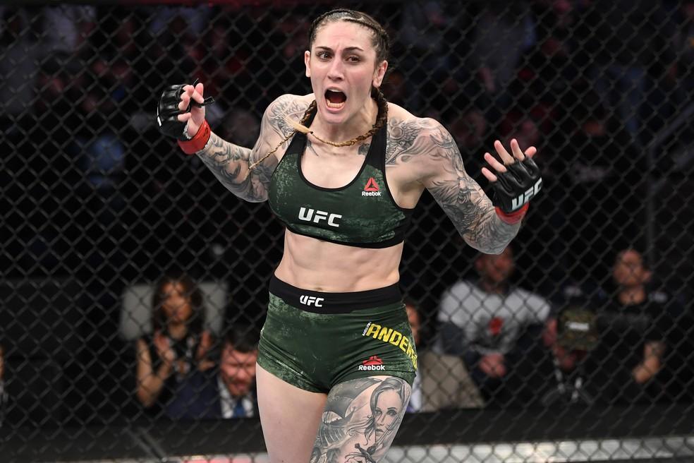 Megan Anderson vem de duas vitórias seguidas no UFC — Foto: Getty Images