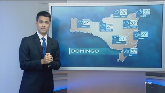 Domingo é de sol com nuvens em todas as regiões catarinenses