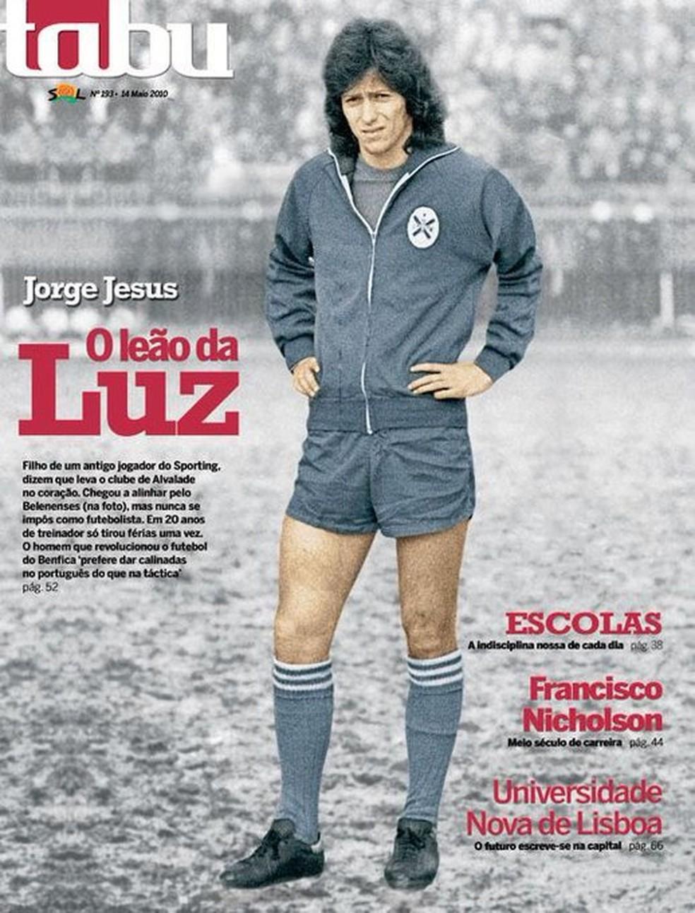 """Jesus na capa da revista portuguesa """"Tabu"""", na época de jogador do Belenenses — Foto: Reprodução"""