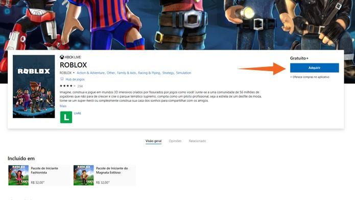 Roblox: como fazer o download do game no Xbox One, PC e