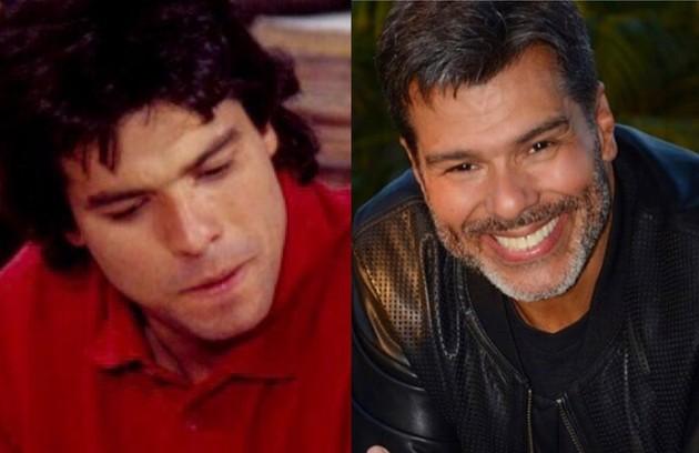 MaurícioMattar foi Téo, arquiteto atormentado pelo espírito de Alexandre. Em 2019, o ator fez 'Topíssima', na Record (Foto: Globo e Reprodução)