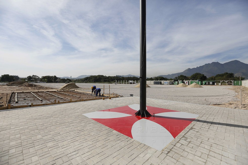 A diretoria do Vasco pretende inaugurar a primeira etapa do CT em agosto — Foto: Rafael Ribeiro/Vasco
