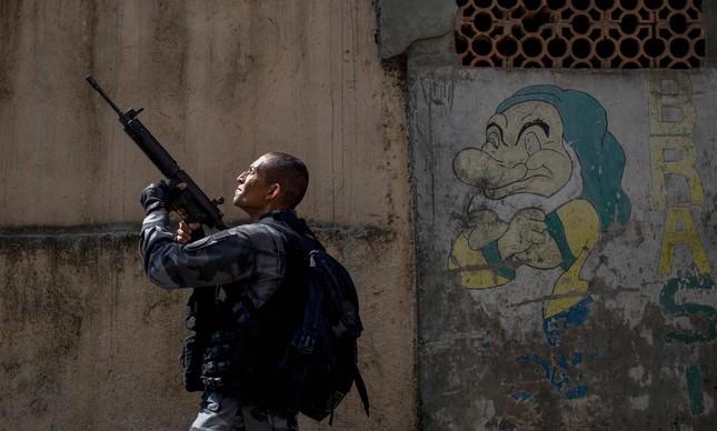 PM faz operação na Rocinha