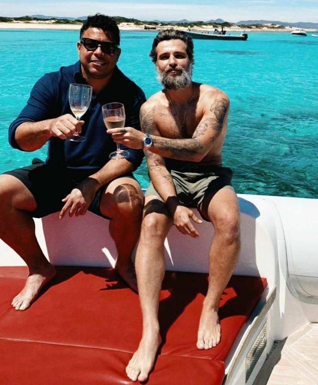 Ronaldo y Bruno Gagliasso en España (Foto: Reproducción / Instagram)